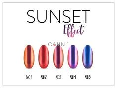 Sunset effect Neonail